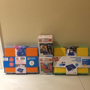 2 Building Blocks Storage Cases and 2 Boxes Blocks